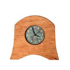 American Liberty Mantel Clock Clock Art, Diy Clock, Craftsman Clocks, Unusual Clocks, Wood Clocks, Mantel Clocks, Liberty, American, Cherry