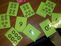 Kindergarten- Here's a set of cards where students order numbers and then match the set to the number.