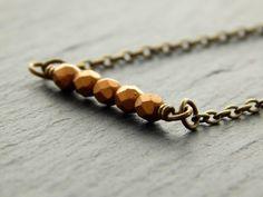 Kette - Bronzezeit  von Perlenfontäne auf DaWanda.com