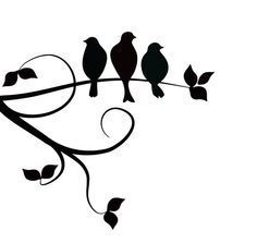 three birds on a branch tattoo - Google Search                                                                                                                                                                                 More