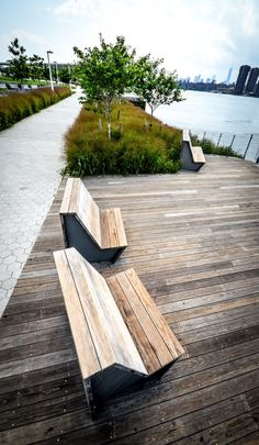 Timber seat + apron. High Point Park, Long Island NYC.
