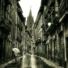 Amanece con lluvia en Oviedo. La parte buena es que vamos a aprovechar para mostraros a lo largo del día, algunos tejidos para la temporada otoño-invierno 2016 que hemos recibido.  #Oviedo #oviedoantiguo #orbayu #telas #novedades #telasotoñoinvierno #telasonline #temporada