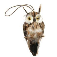 RAZ White Owl Christmas Ornament Made of PVC Measures 4 X 25