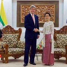 US Secretary of State John Kerry meets with Myanmar Foreign Minister Aung San Suu Kyi