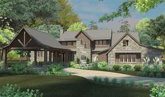 Country House Plan with 2414 Square Feet and 4 Bedrooms from Dream Home Source | House Plan Code DHSW076928