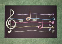 Have fun with music outdoors! Use sidewalk chalk to practice songs.