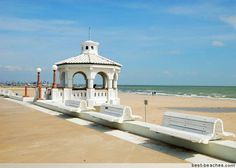 Corpus Christi Beach...remember going here?  It was where the memorial was for Selena I think.
