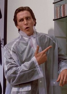Patrick Bateman, American Psycho. A great book and a great movie!  Nevermind I feel creepy every time I admit to it. #feedmeastraycat