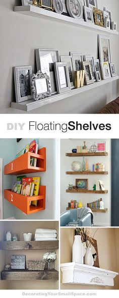 DIY Floating Shelves • Lots of Ideas  Tutorials!