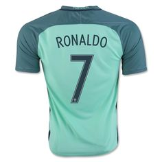 Portugal Euro 2016 Away Authentic Men Soccer Jersey RONALDO #7