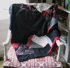 CASHMERE CRAZY QUILT by heartfeltbaby on Etsy, $119.00