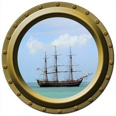Porthole Vinyl Wall Decal   Danger on the by WilsonGraphics, $13.00