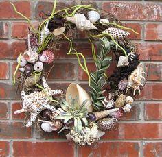 shell wreath - diy