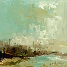 Another abstract landscape in oil by Erica Kirkpatrick
