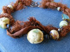 Autumn Kissed Bracelet  Porcelain Branch Beads by SoulsFireDesigns, $38.00
