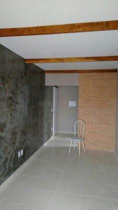 Cimento Queimado+tijolinhos+madeira: