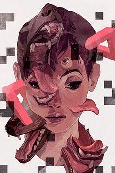 40 Ilustrações Surrealistas impressionantes POR Sachin Teng   A Inspiração do Projeto