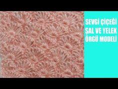 yeni türkan şoray kirpiği bayan yelek ve şal örgü modeli - YouTube