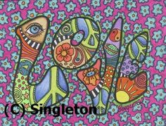 hippie art | little+peace+love+singleton+hippie+art+postcard.JPG