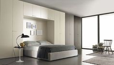 Armoire de chambre contemporaine / en bois / à porte battante / pont de lit MULTIPLO Satarossa Design: