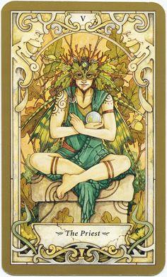 The Priest (The Hierophant) - Mystic Faerie Tarot