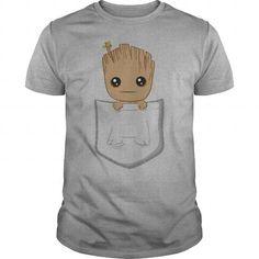 Awesome Tee Pocket Groot TShirt T-Shirts