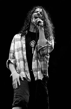 Chris Cornell from Soundgarden performs live on stage at Pinkpop festival in Landgraaf Netherlands on June 08 1992 - Soundgarden's Chris Cornell Dead at 52.. #RIP
