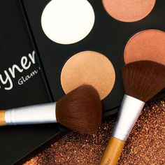 BE RADIANT  Our premium collection of 4 micro-fine highlighter and contour makeup kit will offer your face a smooth, warm glow  Available at mynena.com Yellow Nails, Purple Nails, Green Nails, Black Nails, Orly Nails, Opi, Essie, Contour Makeup, Makeup Kit