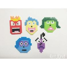 Inside Out characters perler beads by hns.land