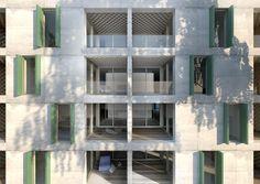 edburg.com | architekturvisualisierung | Architekturwettbewerb Baufelder 19-21, Bern Bruennen, Suedfassade Bern, 3d Rendering, Multi Story Building, Windows, Window, Ramen