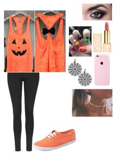 """Halloween in 4 days!!"" by gymnastics7 ❤ liked on Polyvore featuring Topshop, Keds and Tory Burch"