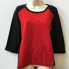 NWT Color Block Pullover Sweatshirt Pullover style, quilted asymmetric front, cuffed sleeves, baseball tee style. 60% cotton 40% polyester. No trades. Generous discount with bundle. Chances R Tops Sweatshirts & Hoodies