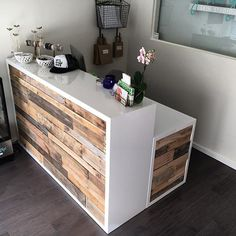 Thank you to organicglow for trusting in us to build your reception counter desk Congratulations on the new location If your ever in Decor, Salon Interior, Interior, Desk Design, Salon Decor, Office Design, Home Decor, Counter Desk