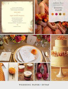 Rustic Glam Wedding Inspiration Board | Wedding Paper Divas Blog