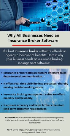 Insurance broker software ties together a number of brokerage-related business processes and enables the flow of information between them. It plays a major role in boosting productivity and reducing operational costs. Policy Management, Relationship Challenge, Insurance Broker, Decision Making, The Fosters, Flexibility, Communication, Software, Challenges