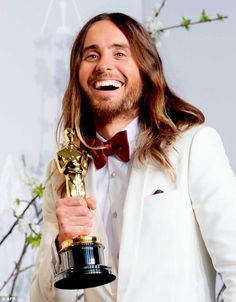 Shine bright: Jared Leto's shiny beach waves came courtesy of day-old hair, says his stylist