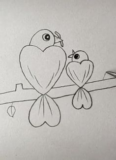 Bird Drawing Easy Bird Drawing Easy - More Ideas at our Easy Drawings For Kids, Cute Little Drawings, Art Drawings Sketches Simple, Bird Drawings, Pencil Art Drawings, Drawing For Kids, Animal Drawings, Cute Drawings, Drawing Art