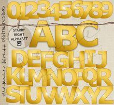 NEW YEAR SALE | Digital Alphabet Number Set | Digital Shiny Foil Texture | Gold Sparkle Alphabet by MelanieBrittDigitals on Etsy