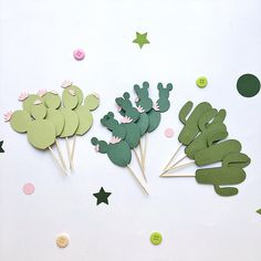 Cactus Cupcake Toppers Cactus Birthday Decorations Fiesta Baby Shower Toppers Fiesta Bachelorette Pa