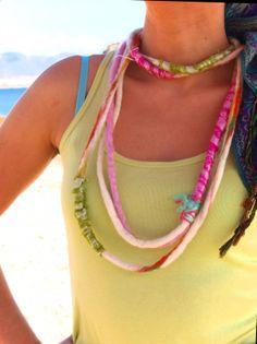 """""""Θ-έρως"""".  Felted summer accessories by Philosopher's Joke."""