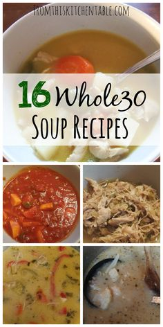 Yum! Great list of soups that are ALL Whole30 approved. Need to check this out for my menu plan this week!
