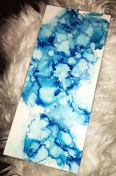 Excited to share the latest addition to my #etsy shop: Blue Crush - Abstract Alcohol Ink Painting - Original Artwork - Mounted on Wood - Art Resin Finish https://etsy.me/2G7nsFi #art #painting #blue #housewarming #easter #white #alcoholinkpainting #abstractart #abstrac