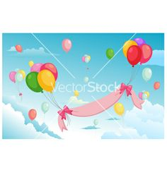 Balloon in the sky vector by jehsomwang on VectorStock®