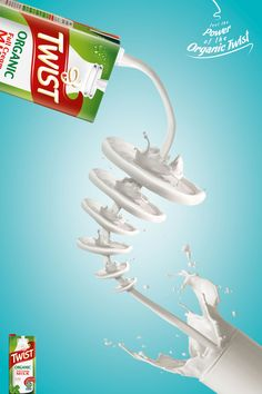 Twist Milk Ads, #Ad, #Advertising, #Art_Direction, #Concept…