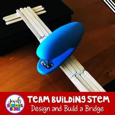 Team Building Back to School STEM Activity from the Beginning of the Year STEM Bundle by Jewel's School Gems. This fun Popsicle Stick Bridge Team Building STEM Challenge is perfect for the first day or week of back to school! Challenge your students to design and build the strongest bridge out of popsicle sticks and sticky putty. Elementary children will not only design and build, but also develop and improve teamwork in the classroom. #backtoschoolstemactivities #teambuildingstemactivities