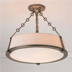 Deco Modern Semi Flush Ceiling Light Light for Laundry area -Shades of LIght