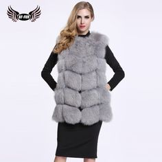 >> Click to Buy << BFFUR Fox Fur 2016 Female Genuine Green Medium Vest Waistcoat Winter Real Natural Fur Jacket Women Coat Fur Pelt Gilet BF-V0061 #Affiliate