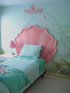 Wonderful Ariel Mermaid Disney Princess Bedroom Set : Enchanting Disney Princess Bedroom  Set For Little Girl U2013