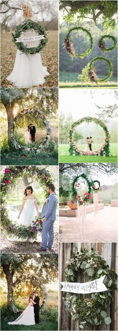 Wedding Decorations » Top 22 Creative DIY    Wedding Wreath Ideas Worth Stealing »      ❤️ More:     http://www.weddinginclude.com/2017/05/creative-diy-wedding-wreath-ideas-worth-stealing/