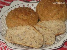 Grahamové pečivo so semiačkami (fotorecept) Graham, Bread, Food, Basket, Brot, Essen, Baking, Meals, Breads